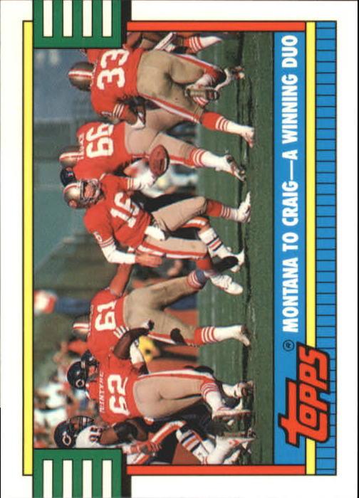 1990 Topps Tiffany #515 49ers TL/Montana/Craig