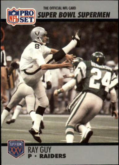 1990-91 Pro Set Super Bowl 160 #116 Ray Guy