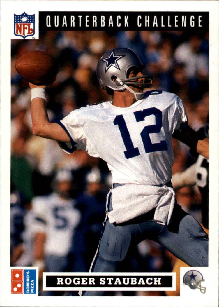 1991 Domino's Quarterbacks #43 Roger Staubach