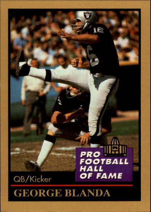 1991 ENOR Pro Football HOF #14 George Blanda