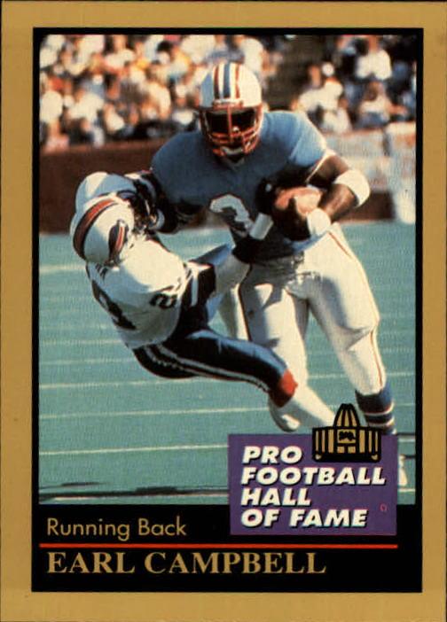 1991 ENOR Pro Football HOF #23 Earl Campbell