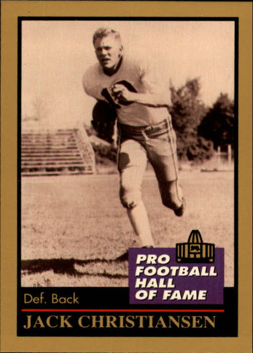 1991 ENOR Pro Football HOF #27 Jack Christiansen