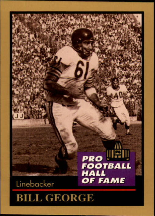 1991 ENOR Pro Football HOF #45 Bill George