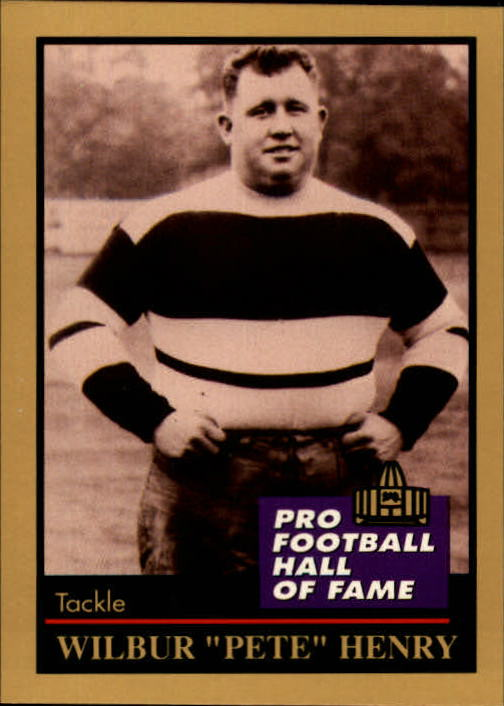 1991 ENOR Pro Football HOF #62 Fats Henry