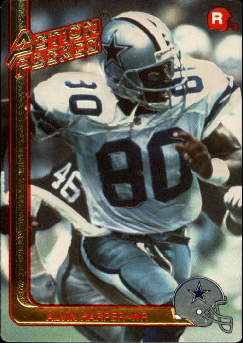 1991 Action Packed Rookie Update #8 Alvin Harper RC