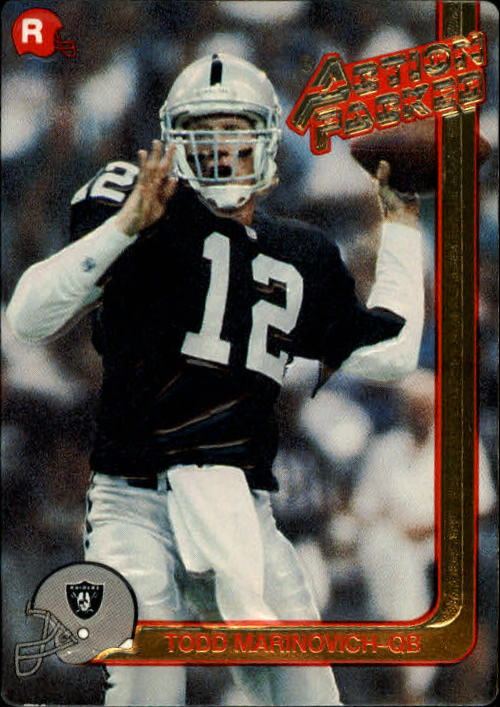 1991 Action Packed Rookie Update #18 Todd Marinovich RC