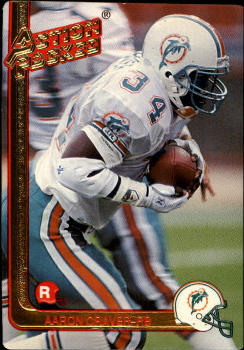 1991 Action Packed Rookie Update #27 Aaron Craver RC