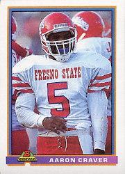 1991 Bowman #302 Aaron Craver RC