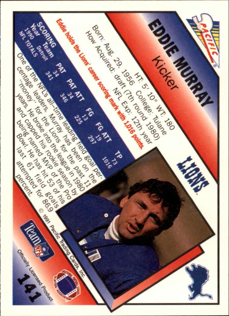 1991 Pacific #141 Eddie Murray back image