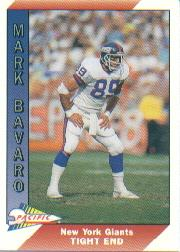1991 Pacific #341 Mark Bavaro UER/(incorrect weight on back: 145)