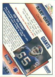 1991 Pacific #353A Bart Oates ERR/(Misspelled Oats on both sides;/misspelled Megget on back) back image