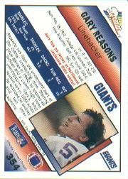 1991 Pacific #354 Gary Reasons back image