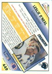 1991 Pacific #449 Leslie O'Neal back image