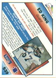 1991 Pacific #539 Ed King RC back image