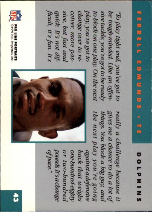 1991 Pro Line Portraits #43 Ferrell Edmunds back image
