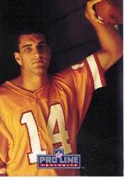 1991 Pro Line Portraits Autographs #258 Vinny Testaverde