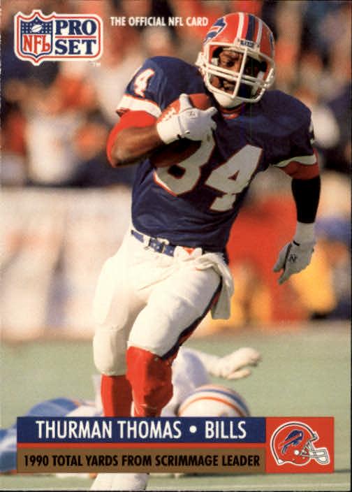 1991 Pro Set #13 Thurman Thomas/NFL Total Yardage/Leader