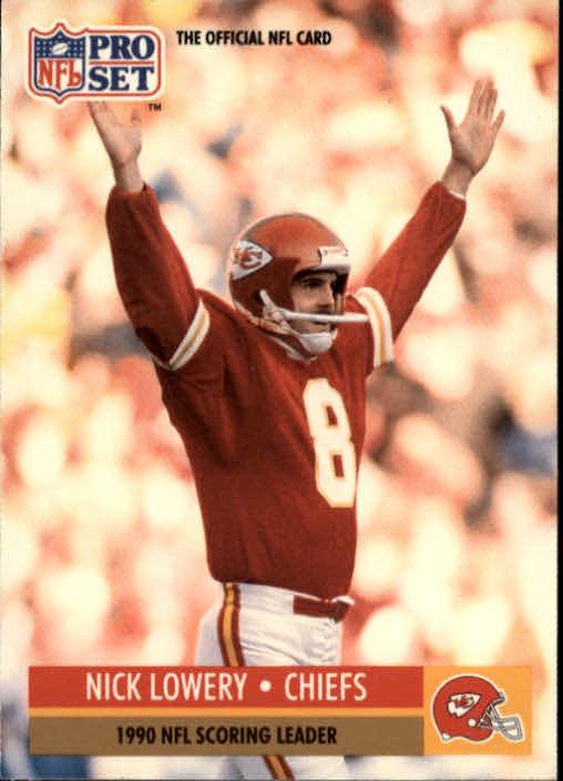 1991 Pro Set #14 Nick Lowery/NFL Scoring Leader,/Kickers