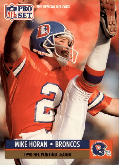 1991 Pro Set #15 Mike Horan/NFL Punting Leader