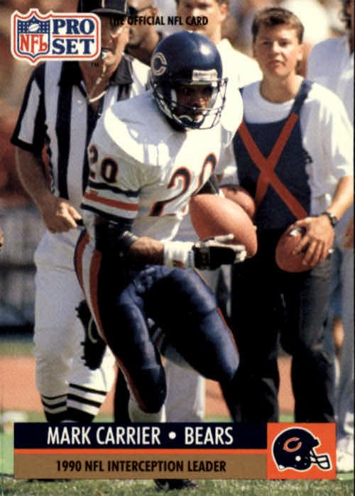 1991 Pro Set #18 Mark Carrier DB/NFL Interception/Leader