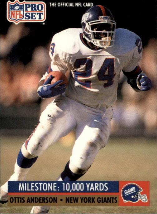 1991 Pro Set #20 Ottis Anderson ML/10000 Career/Rushing Yards