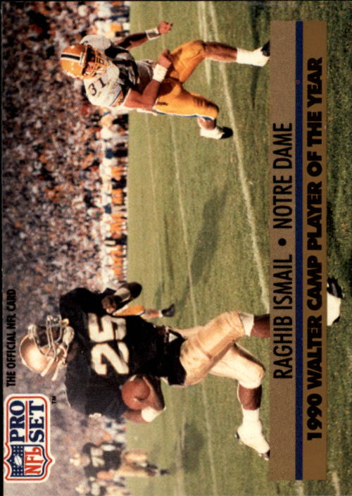 1991 Pro Set #36 Rocket Ismail RC/Walter Camp POY
