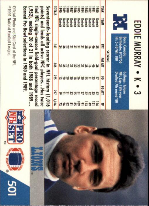 1991 Pro Set #501 Eddie Murray back image