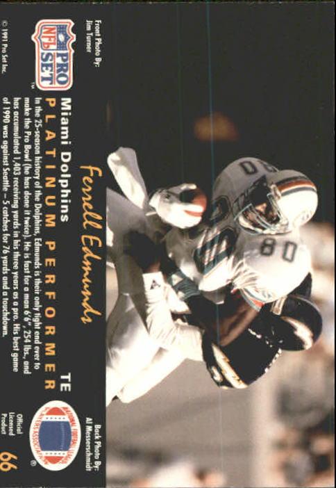 1991 Pro Set Platinum #66 Ferrell Edmunds back image