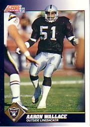 1991 Score #562 Aaron Wallace