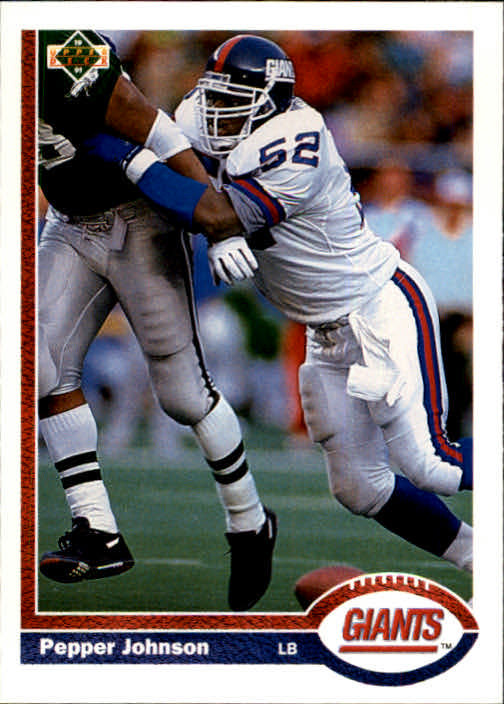 1991 Upper Deck #183 Pepper Johnson