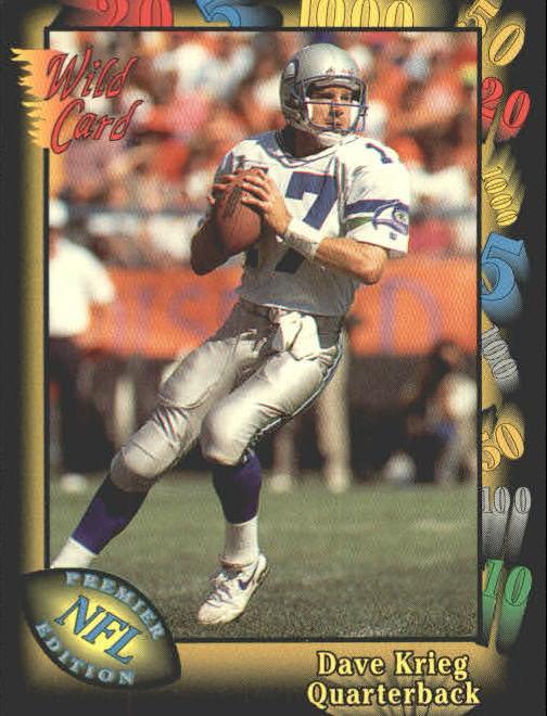 1991 Wild Card #8 Dave Krieg