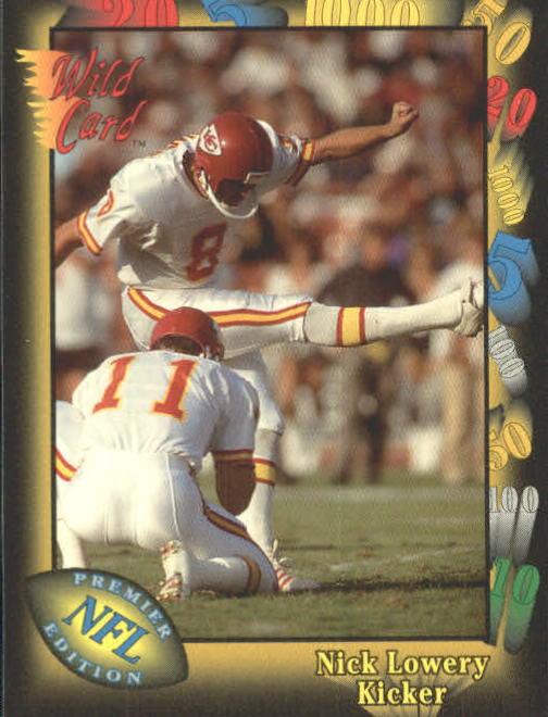 1991 Wild Card #9 Nick Lowery