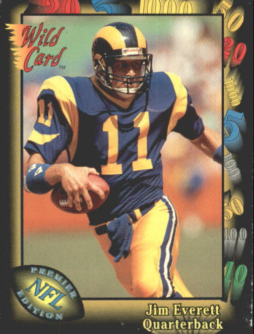 1991 Wild Card #15 Jim Everett