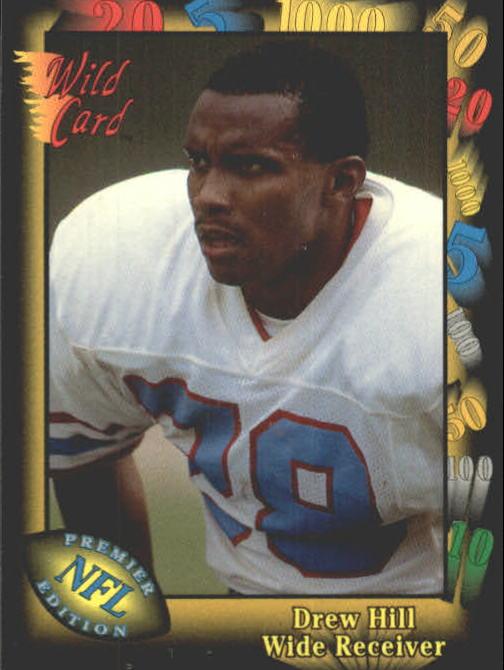 1991 Wild Card #17 Drew Hill UER