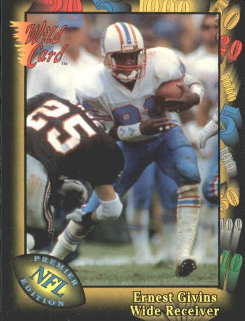 1991 Wild Card #19 Ernest Givins