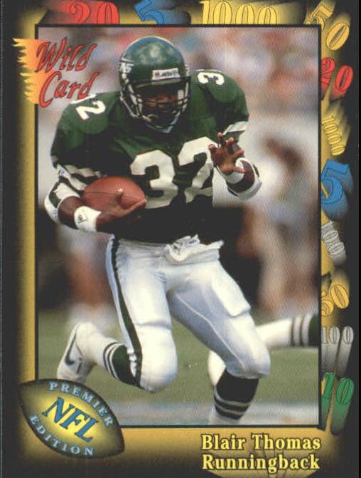 1991 Wild Card #21 Blair Thomas
