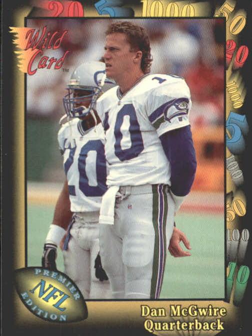 1991 Wild Card #34 Dan McGwire RC
