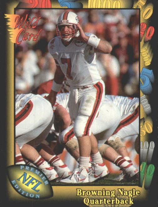 1991 Wild Card #44 Browning Nagle RC