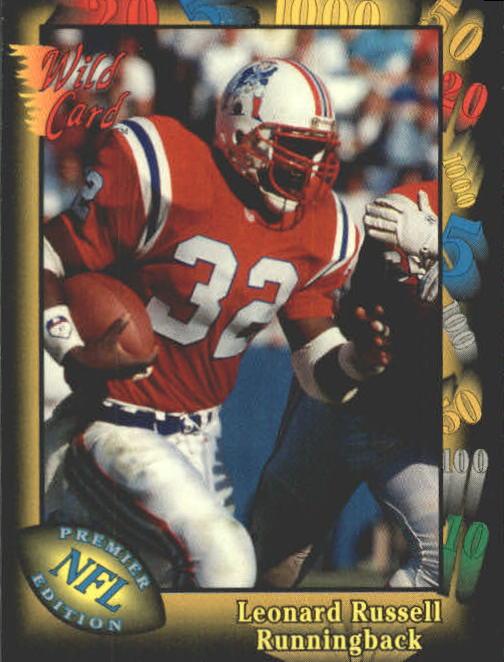 1991 Wild Card #76 Leonard Russell RC
