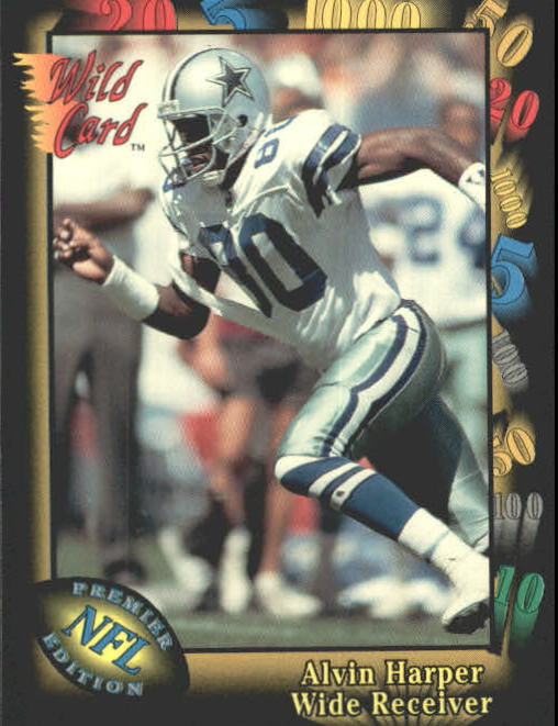 1991 Wild Card #81 Alvin Harper RC