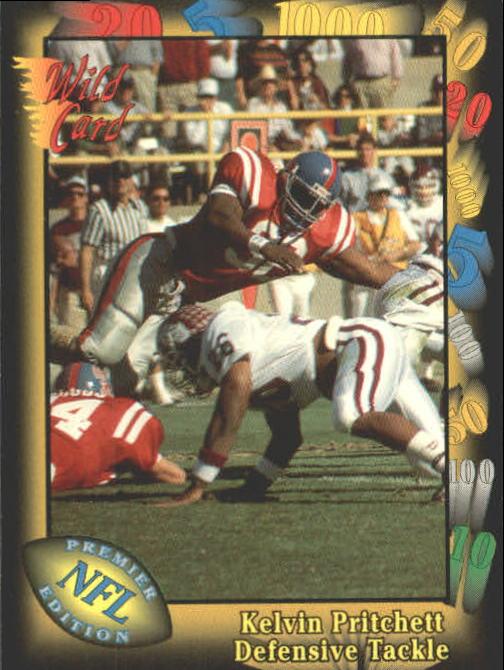1991 Wild Card #109 Kelvin Pritchett RC