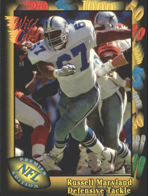 1991 Wild Card #113 Russell Maryland RC