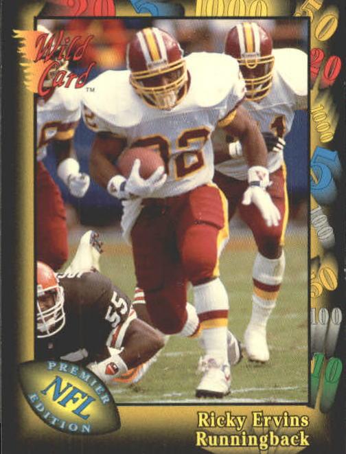 1991 Wild Card #118 Ricky Ervins RC