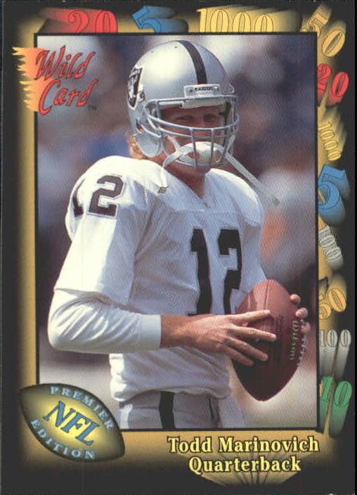 1991 Wild Card #147 Todd Marinovich RC