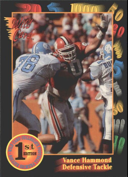 1991 Wild Card Draft #44 Vance Hammond