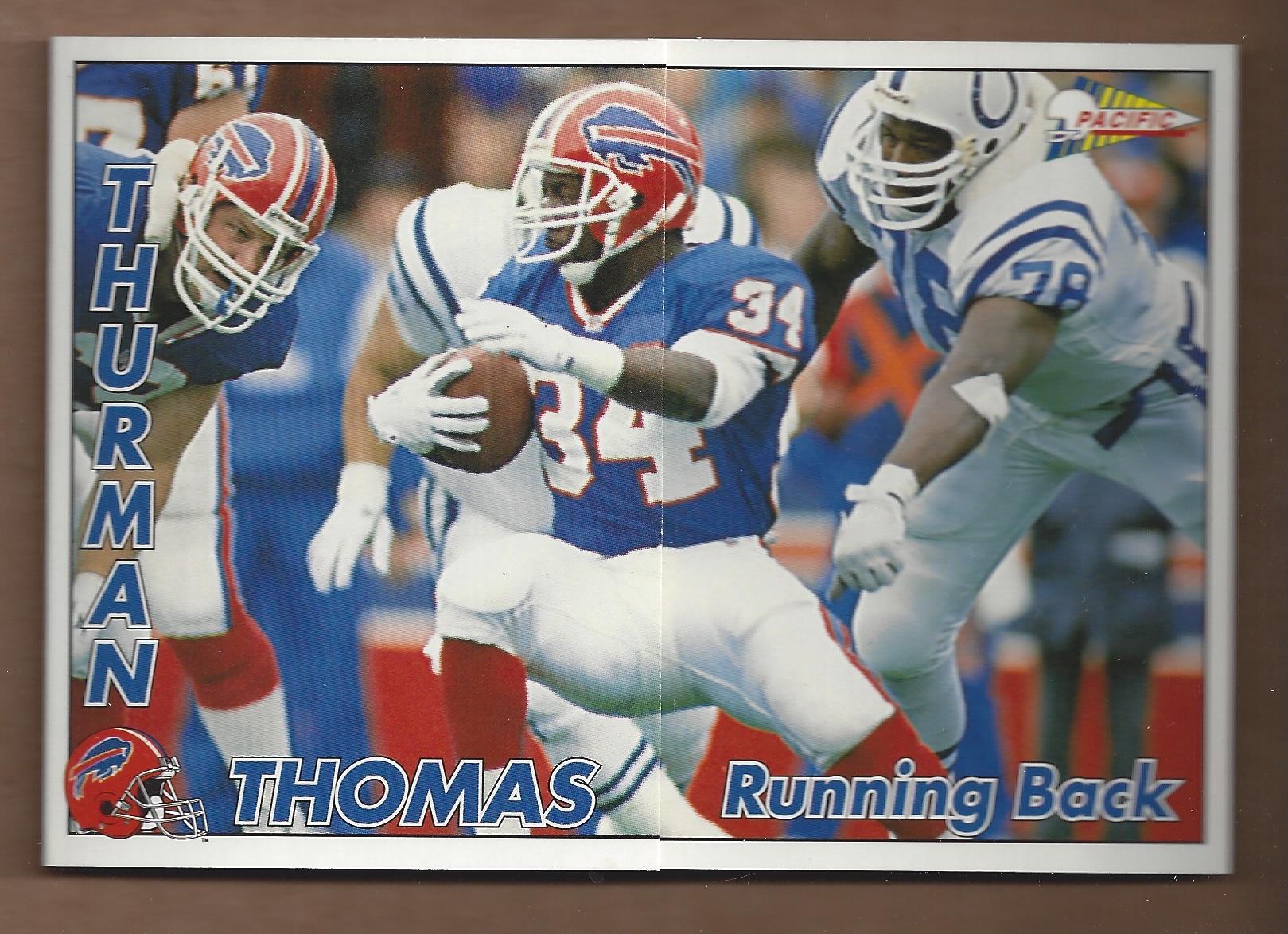 1992 Pacific Triple Folders #2 Thurman Thomas