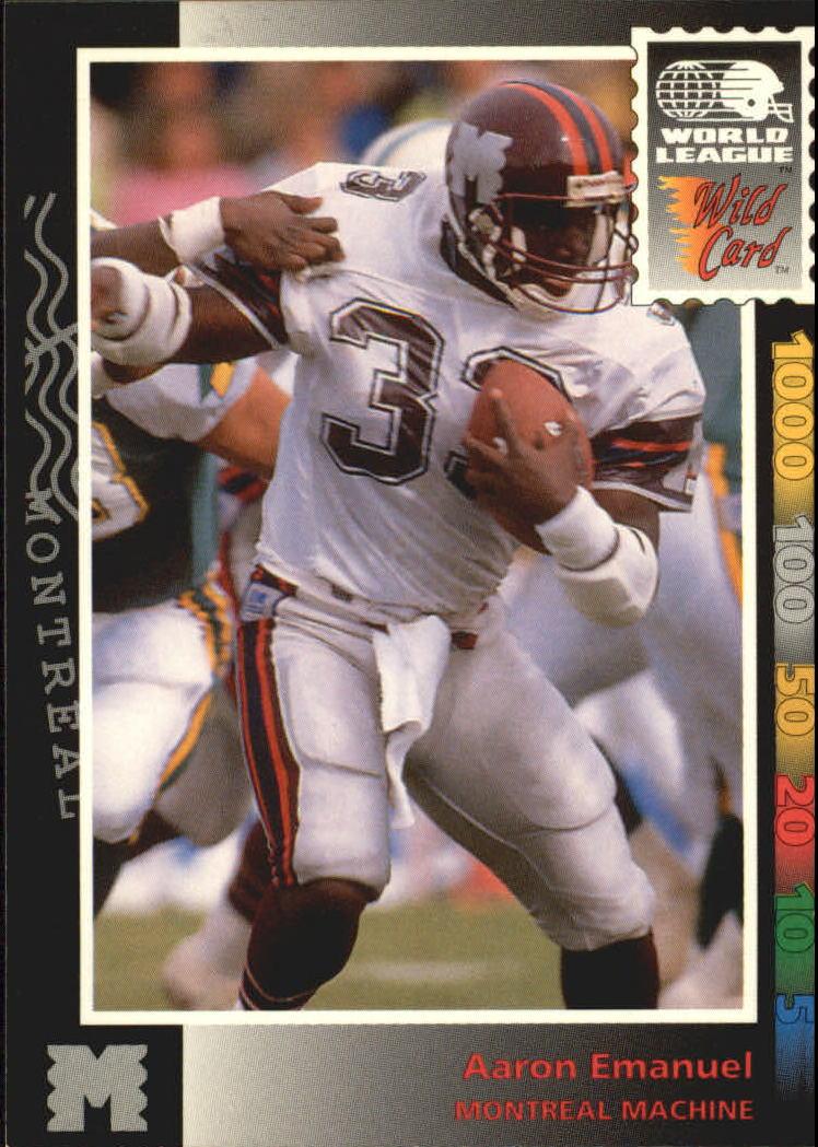 1992 Wild Card WLAF #9 Aaron Emanuel