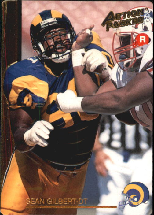 1992 Action Packed Rookie Update #3 Sean Gilbert RC