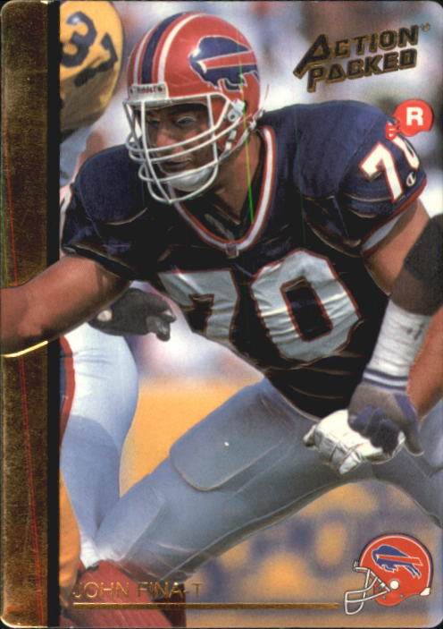 1992 Action Packed Rookie Update #4 John Fina RC