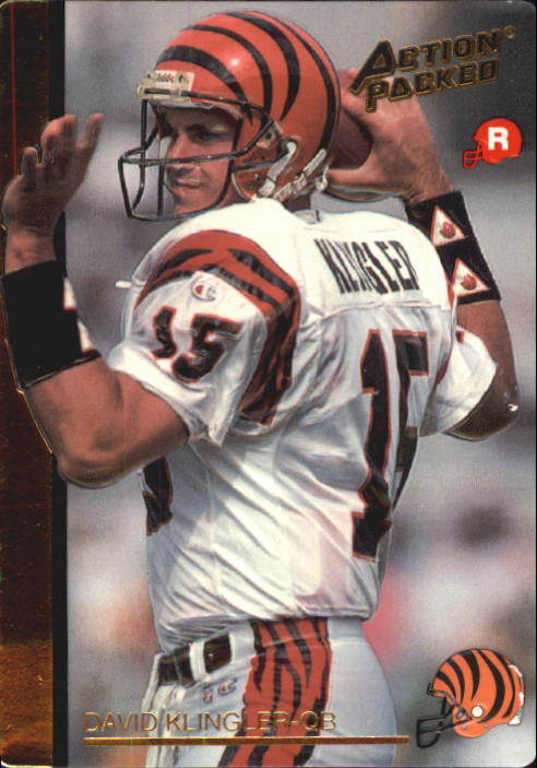 1992 Action Packed Rookie Update #23 David Klingler RC